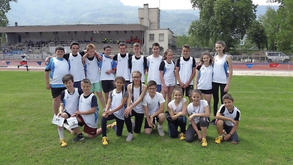 Équipe d'athlétisme Collège Jeanne d'Arc Pont de Beauvoisin