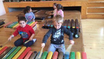Classe musique et nature des élèves de maternelle/CP🎵