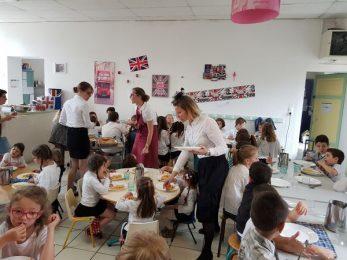 Lunch Fish'n'Chips à l'École Notre Dame du Rosaire